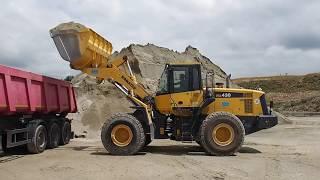 Komatsu WA430 Loading Gravel In A Dump Truck