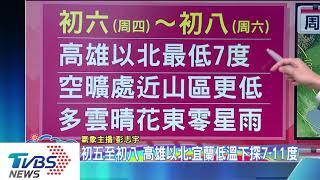 【TVBS新聞精華】急凍低溫下探7度 抗疫!武漢肺炎台8例