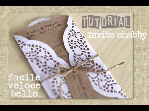 Partecipazione/invito shabby di nozze - Wedding invitations Card shabby chic