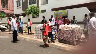 Covid 19 - Distributed dry ration to the needy in Visakhapatnam