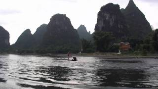 Video : China : Li River 漓江 boating, GuangXi province - video