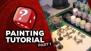 Mansions Of Madness: Call Of The Wild Miniatures Painting Tutorial: Part 1