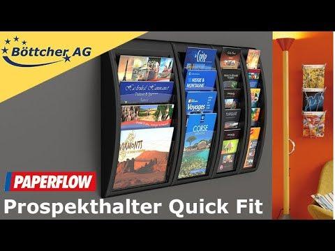 Paperflow Prospekthalter Quick Fit 4062 Wandprospekthalter für 5 x DIN lang