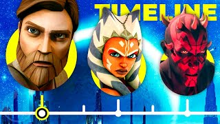 The Complete Star Wars Clone Wars Timeline...So Far | Channel Frederator