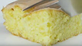 Простой лимонный бисквит. Бисквит для торта. Пышный бисквит.