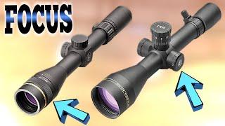 Scope parallax and focus Explained