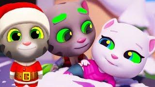 ТОМ ЗА ЗОЛОТОМ #26 Друзья САНТА ТОМ   My Talking Tom Игровой мультик для детей