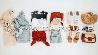 12 pieces, 36 outfits SUMMER Capsule Wardrobe 2020 | summer outfit ideas lookbook | Miss Louie