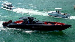 WILDEST Boats at the Bridge / Miami Boat Show / Cigarette Tirranna
