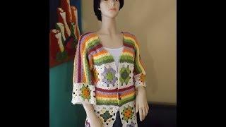 Crochet Cardigan De Cuadrados O Granny Squares Parte 1 - Con Ruby Stedman