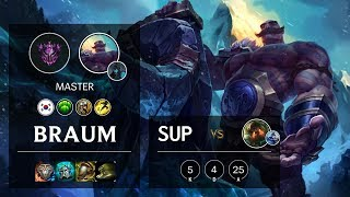 Braum Support vs Nautilus - KR Master Patch 10.9