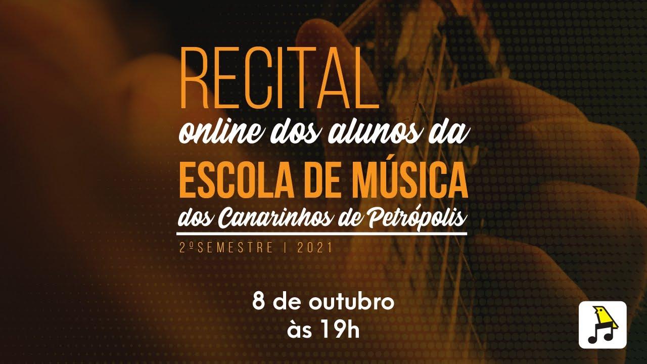 Recital online do Coral dos Canarinhos de Petrópolis | 2ª edição