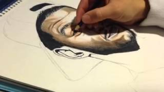 KiD CuDi Man on the Moon (The Anthem) Time-Lapse Drawing