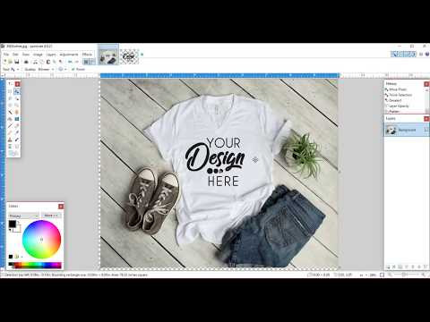 Using Paint.net to create a t shirt mockup image