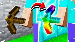 UPGRADING This Minecraft PICKAXE To Make It OP!