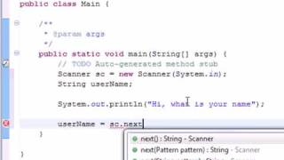 Java Tutorial: Read user input using Scanner class