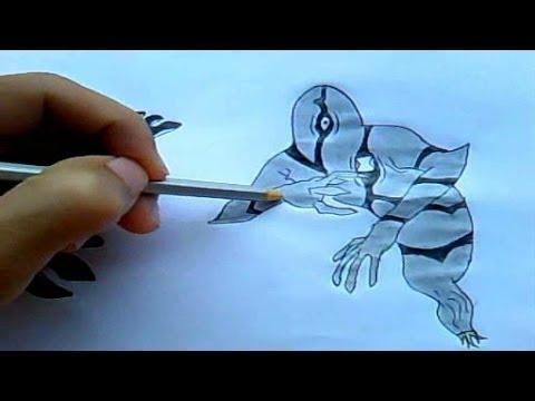 como desenhar Ben 10 - Fantasmático
