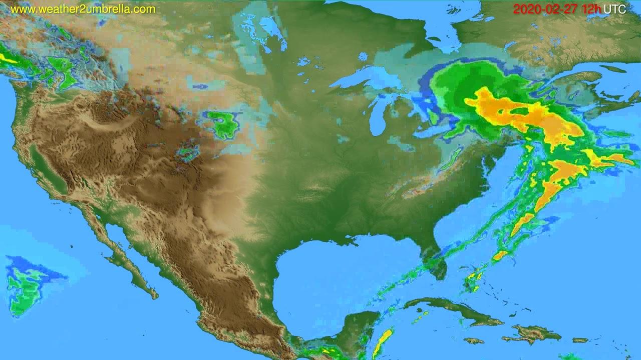 Radar forecast USA & Canada // modelrun: 00h UTC 2020-02-27