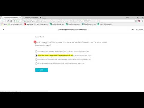 Google Ads Fundamentals Exam Answer September 2018 - YouTube
