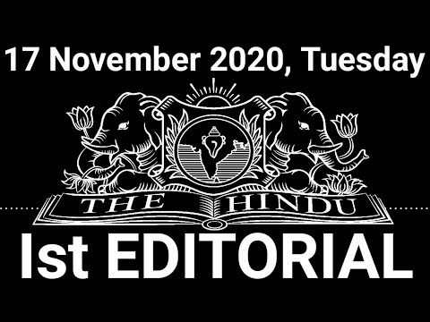 The Hindu Editorial Today   The Hindu Newspaper Today   17 November 2020   Threat or treat