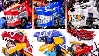 PowerRangers DinoForce TyrannoKing Brave Spino VS DinoCore Ultra DBuster Tyranno Cerato  Saber Trans