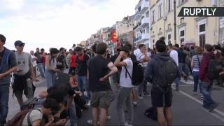 Протесты против G7 в Италии