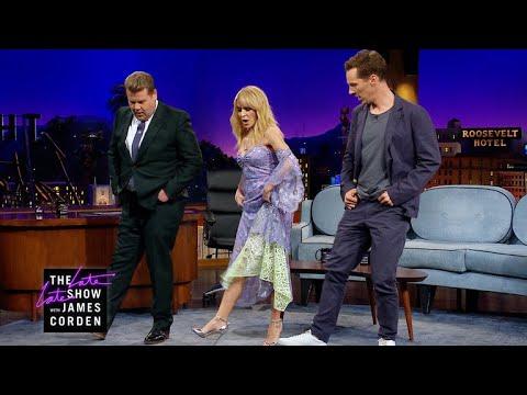 Kylie Minogue Teaches Benedict Cumberbatch Line Dancing (видео)