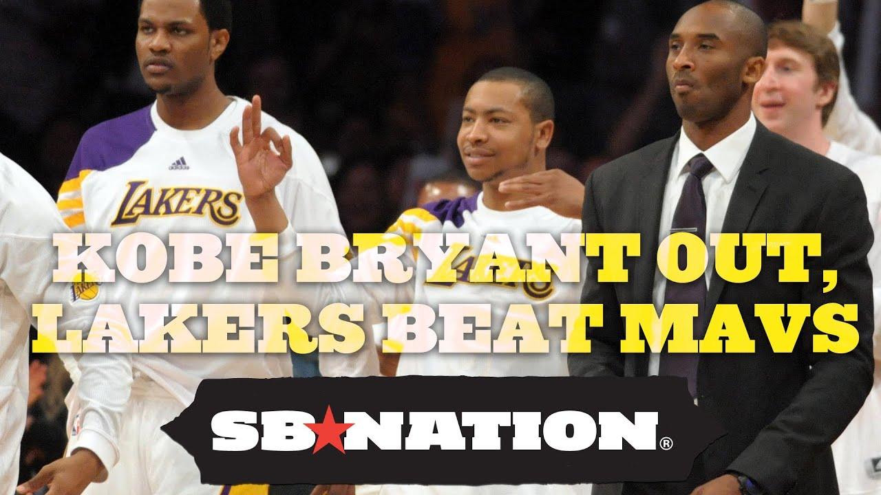 Kobe Bryant Out, Lakers beat Mavs thumbnail
