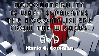 Accountability | Be Legendary | Mario Cottman