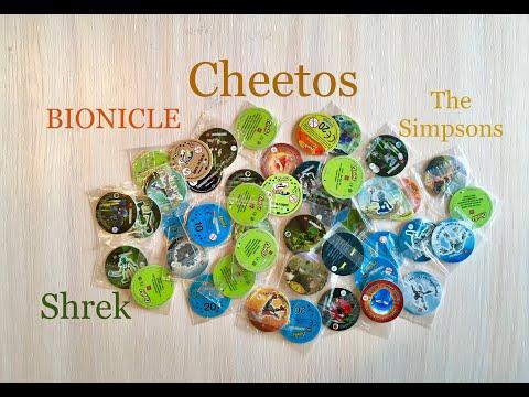 Читос и много из него фишек; BIONICLE, The Simpsons, Shrek