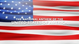 American National Anthem (Star Spangled Banner) with lyrics