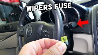 WINDSHIELD WIPERS FUSE LOCATION REPLACEMENT MAZDA CX-7  WIPERS NOT WORKING