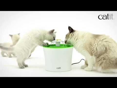 Catit Flower Fountain - fuente 3 en 1 para gatos