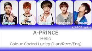 A-Prince (에이프린스) - Hello Colour Coded Lyrics (Han/Rom/Eng)