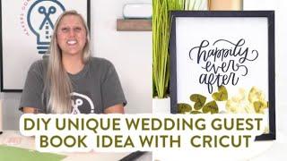 DIY Unique Wedding Guest Book Idea With Cricut