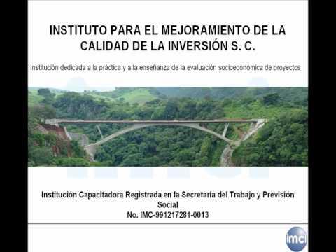 Curso sobre identificación y evaluación financiera y socioeconómica de proyectos de inversión pública
