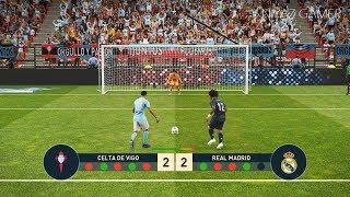 CELTA DE VIGO vs REAL MADRID | Penalty Shootout | PES 2019 Gameplay PC