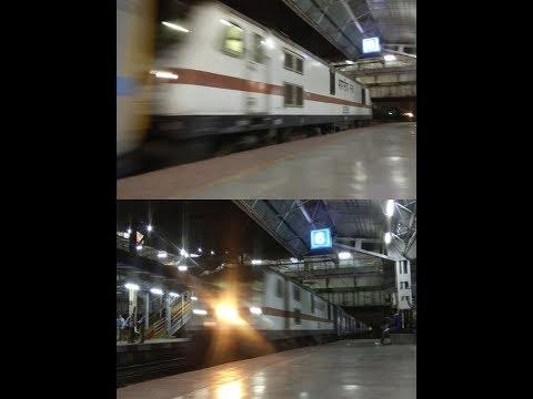 PUSH-PULL TRIALS : Pune-Mumbai Intercity Express arriving Dadar with WAP-7 Push-Pull Configuration!!