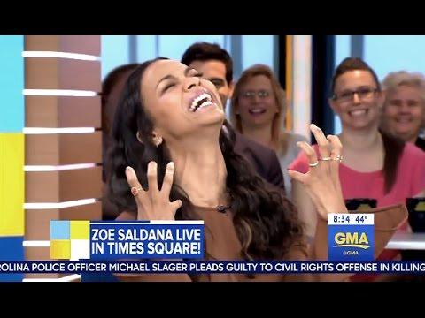 Zoe Saldana - Chats Family & Guardians Vol 2 - GMA