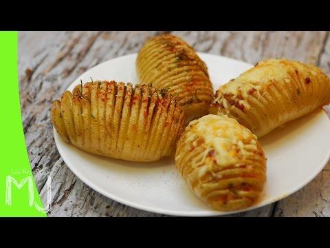 PATATAS HASSELBACK | Papas al horno rellenas de bacon y queso