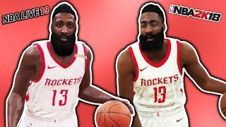 NBA Live 19 Vs NBA 2K18 Graphics Comparison