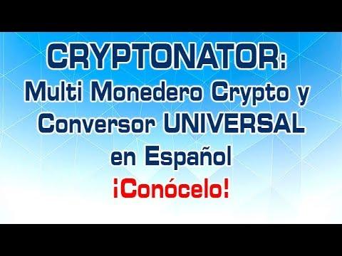 Cryptonator en Español:Monedero Crypto y Exchanger Universal de Crypto Monedas y Dólares