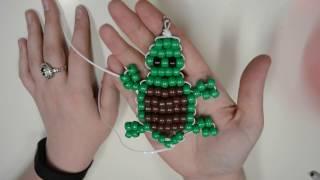 Beaded Turtle Keychain Tutorial