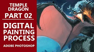 Dragon Temple DIGITAL PAINTING Time Lapse Illustration
