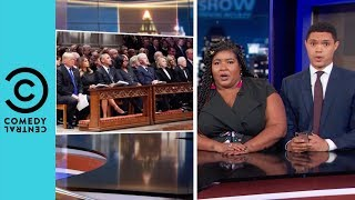 George Bush Sr's Awkward Funeral Seating Arrangement | The Daily Show With Trevor Noah