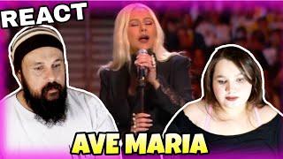 VOCAL COACHES REACT: CHRISTINA AGUILERA  - AVE MARIA (TRIBUTE TO KOBE E GIANNA BRYANT)