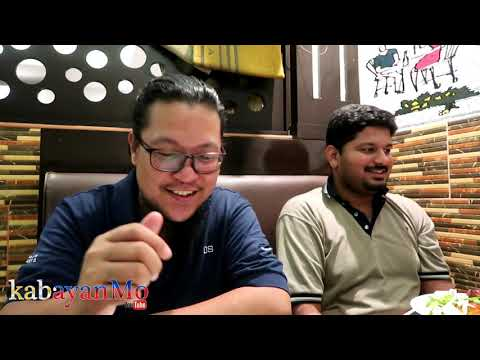 Pinoy living in Qatar trying food with Indian friend | Buhay OFW