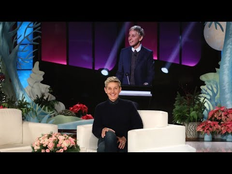 First Look at Ellen's Supersized 'Blindfolded Musical Chairs'