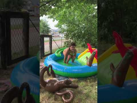 Swimming pool gymnastics for kids