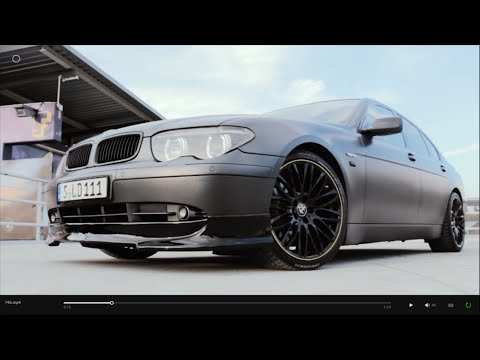 "BMW 745i V8 E65 matte grey 20"" Wheels walkaround / carporn 